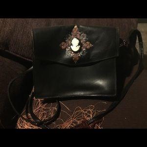 Handmade Leather Vintage Cameo Carved Purse